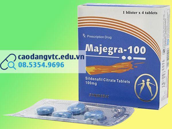 Majegra 100mg hỗ trợ điều trị rối loạn cương dương