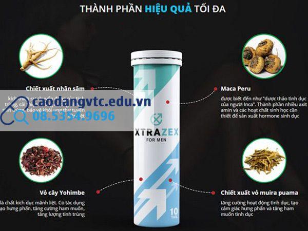 Thành phần và công dụng các thảo dược có trong Viên sủi Xtrazex